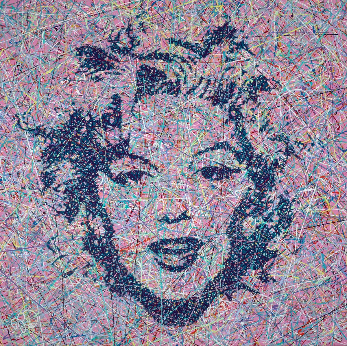 Dizzy Blonde by jim dowie -  sized 36x36 inches. Available from Whitewall Galleries